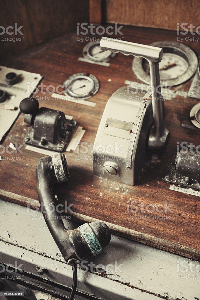 Ship`s Throttle stock photo