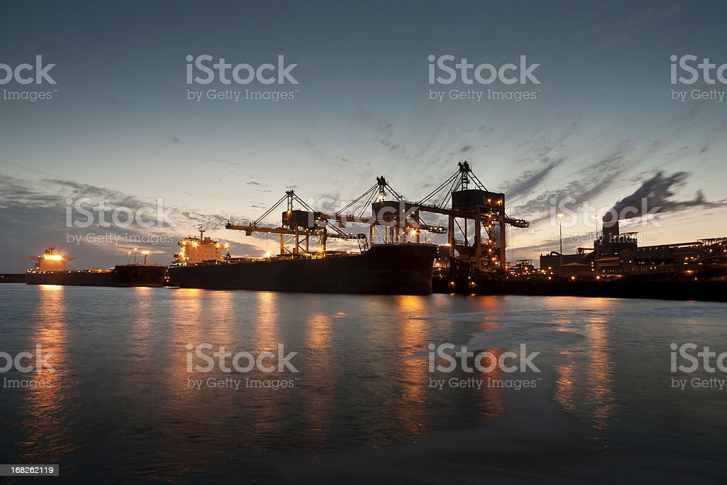 ships unloading royalty-free stock photo