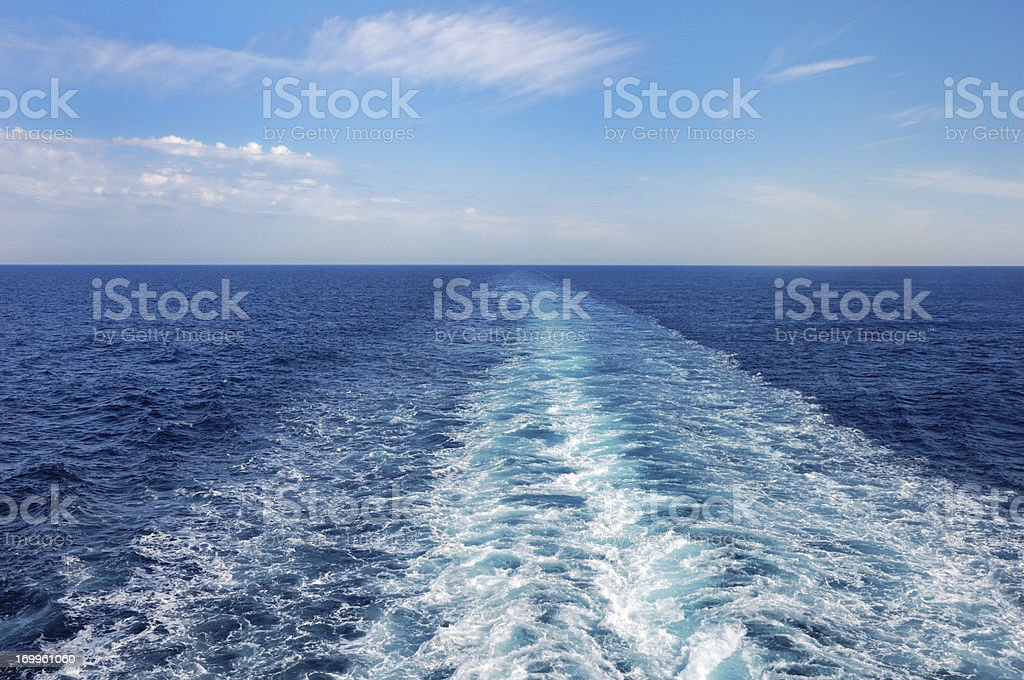 Ship's Wake royalty-free stock photo