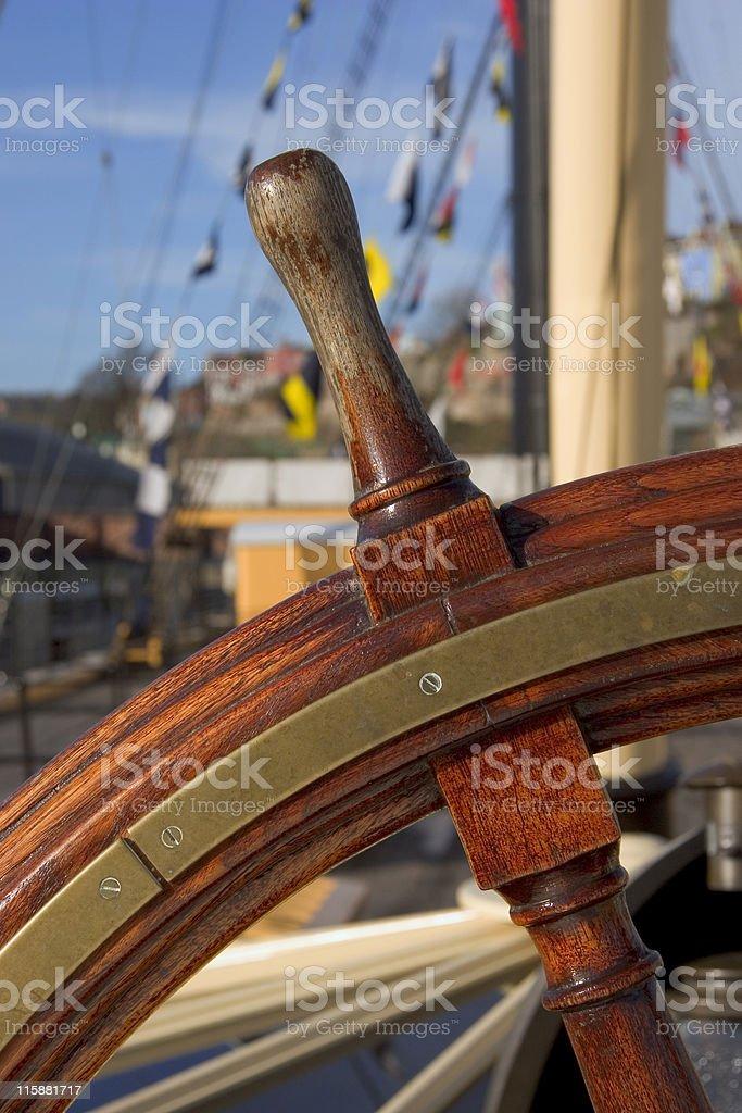 Ship's Wheel royalty-free stock photo