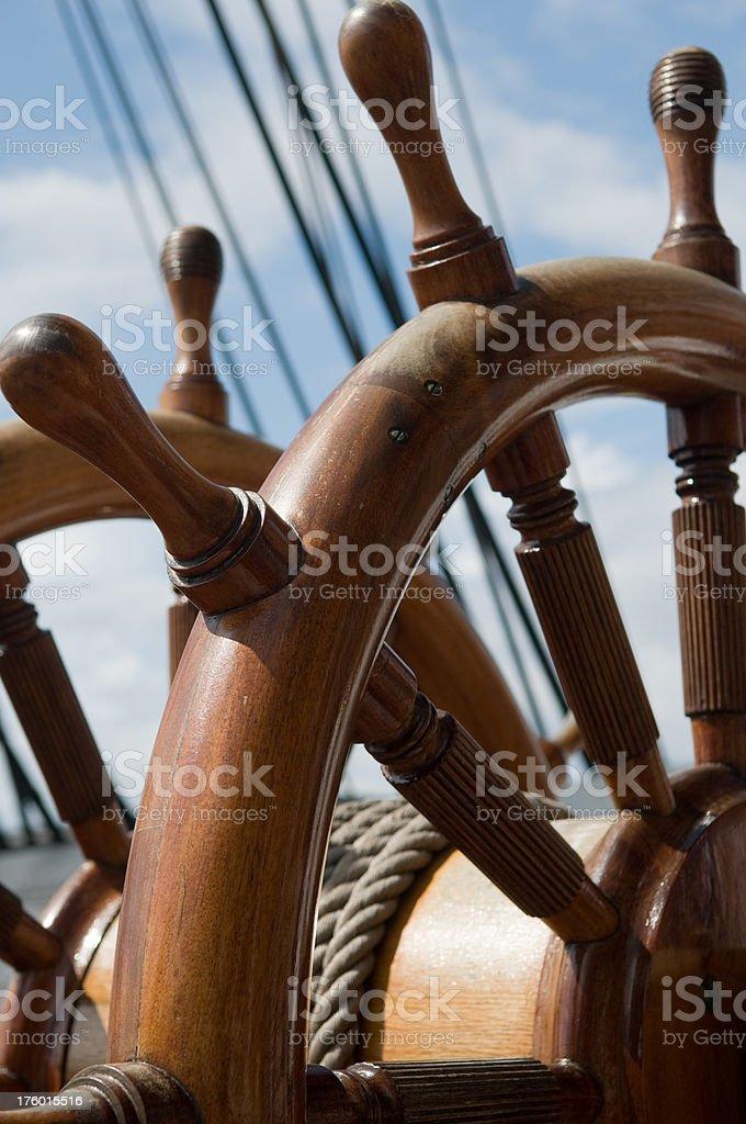 Ship´s wheel. stock photo
