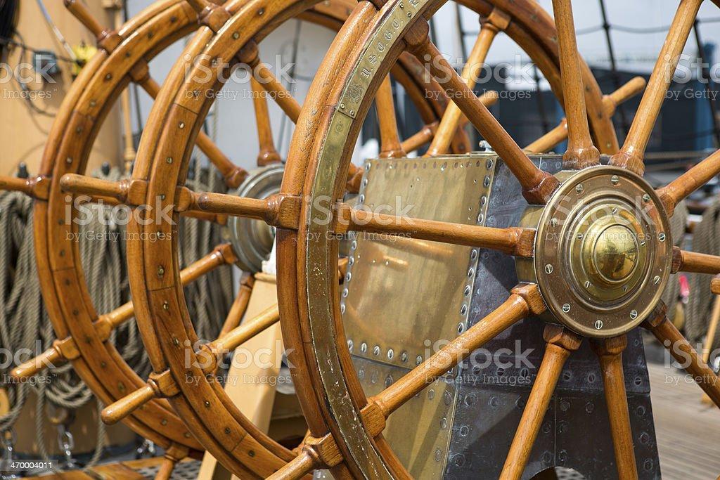 Ship´s wheel stock photo