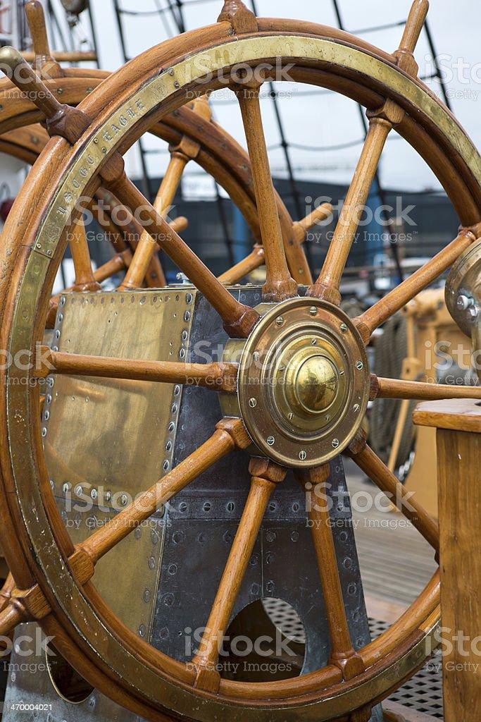 Ship?s wheel stock photo