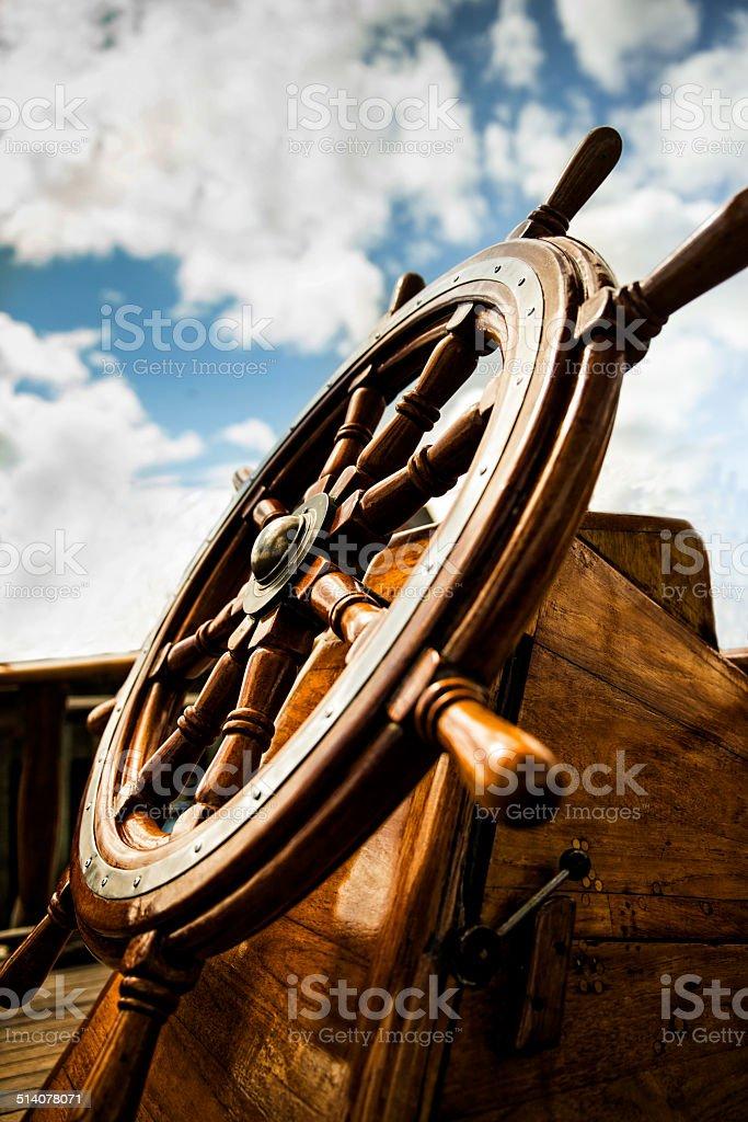 Ships Wheel stock photo