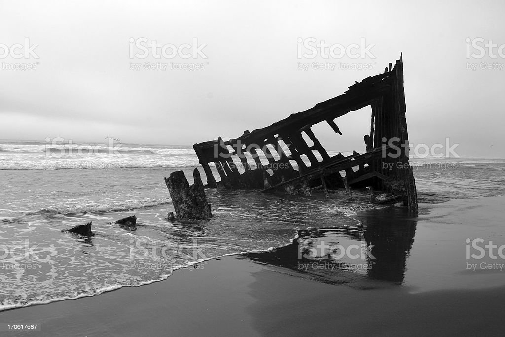 Shipwreck at Dusk royalty-free stock photo