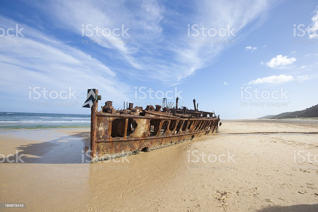 Shipwreck at Fraser Island, Queensland Australia royalty-free stock photo