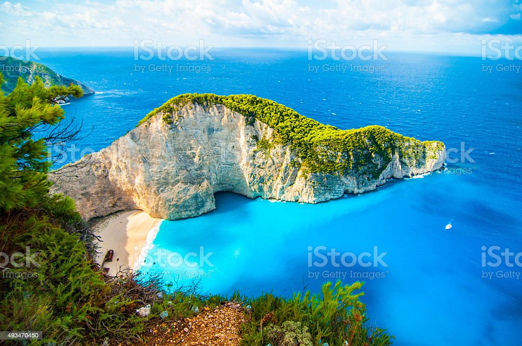 Shipwreck Beach Greece stock photo