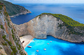 Shipwreck Beach In Zakynthos, Greece