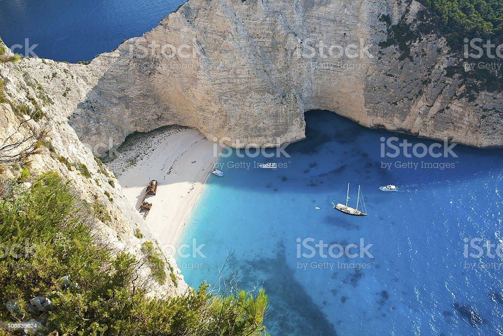 Shipwreck beach stock photo
