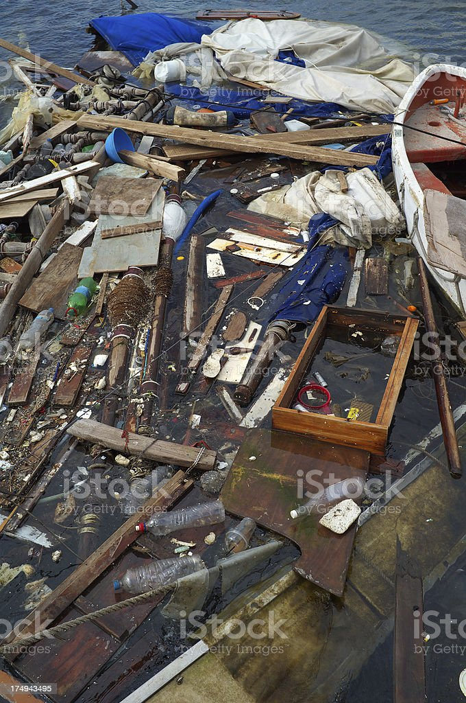 Shipwreck Debris royalty-free stock photo