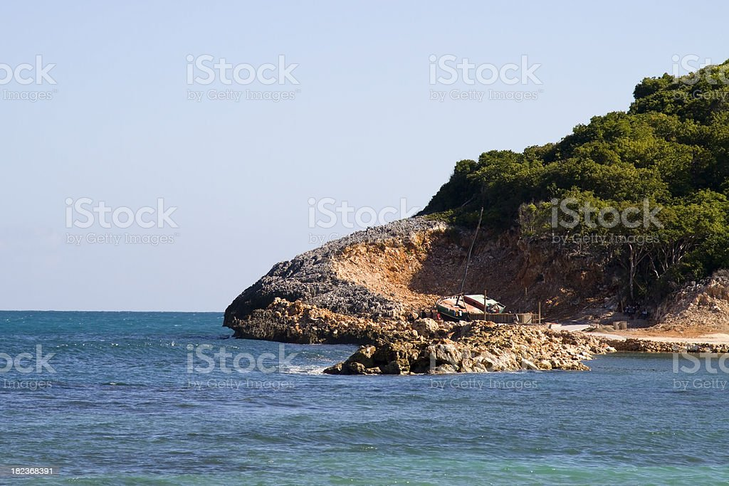Shipwreck in the Caribbean royalty-free stock photo