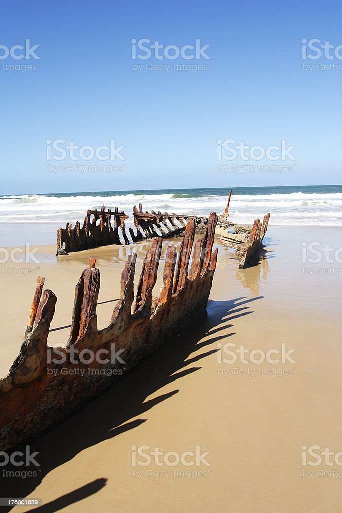 shipwreck, late afternoon royalty-free stock photo