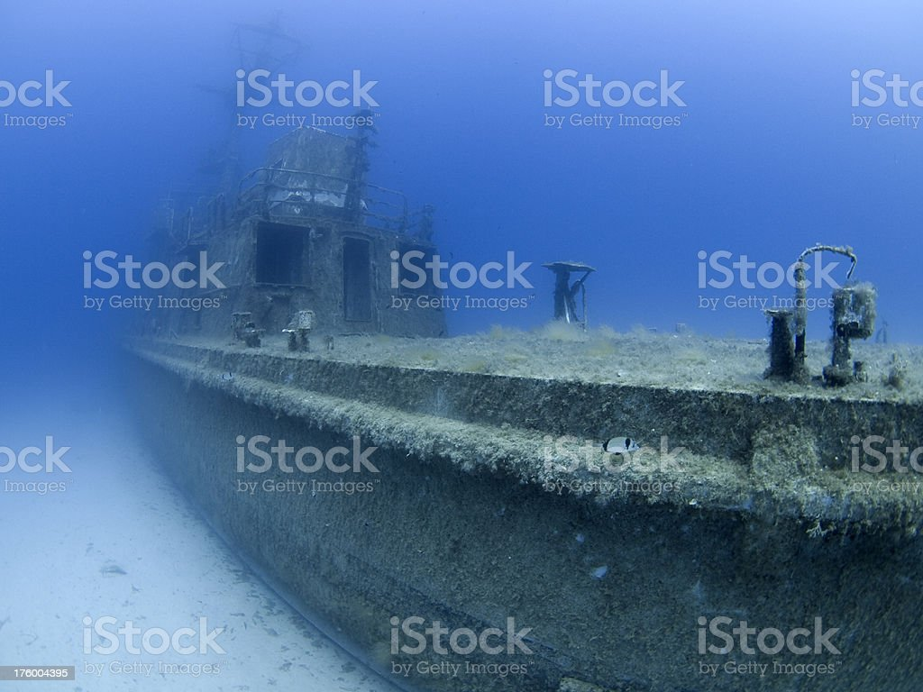 shipwreck of the p29 patrol boat royalty-free stock photo