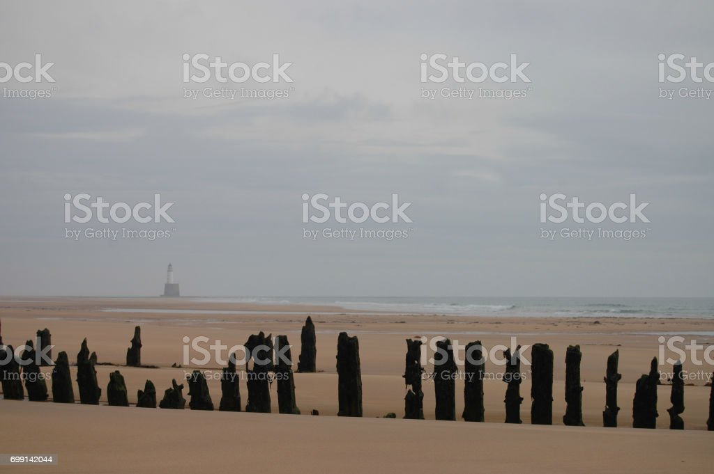Shipwreck on the Aberdeenshire Coast stock photo