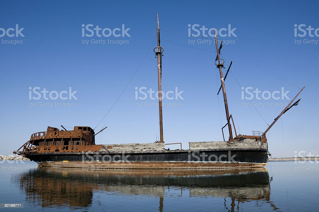 Shipwreck royalty-free stock photo