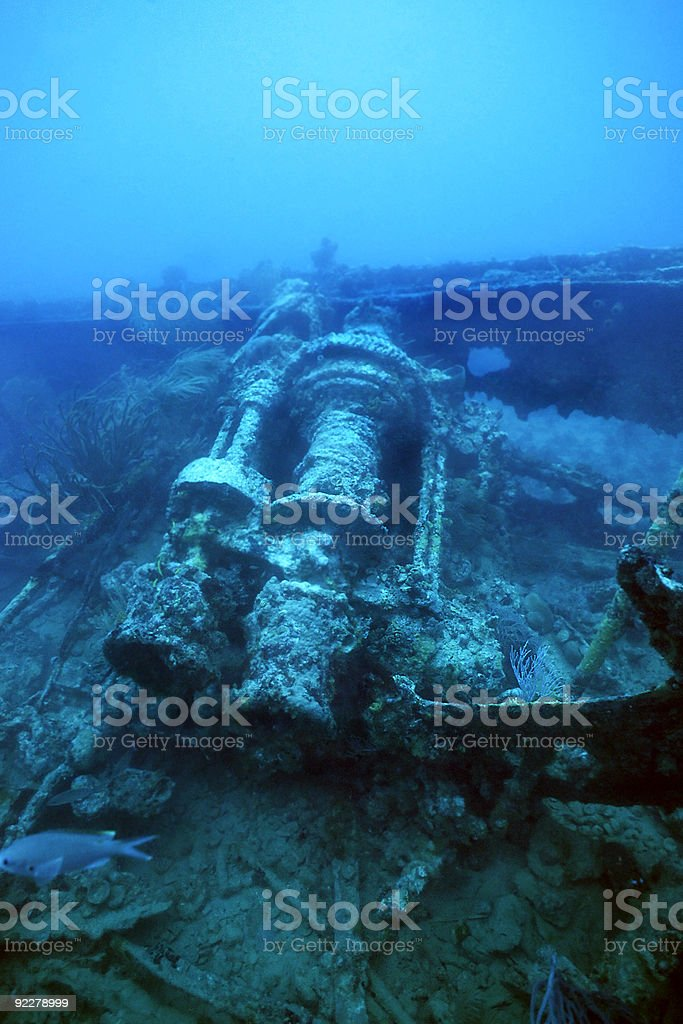 WWII shipwreck royalty-free stock photo