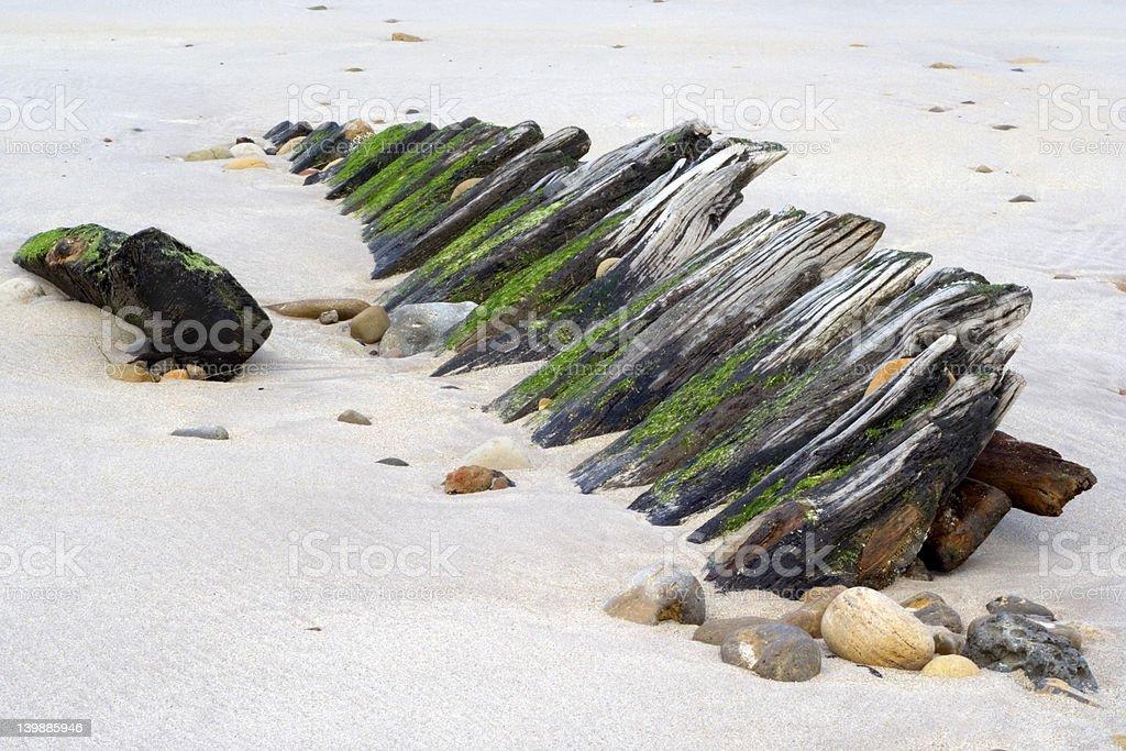 Shipwreck UK stock photo