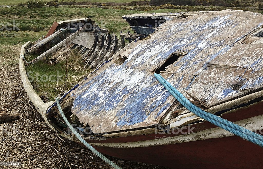 Shipwrecked Boat stock photo