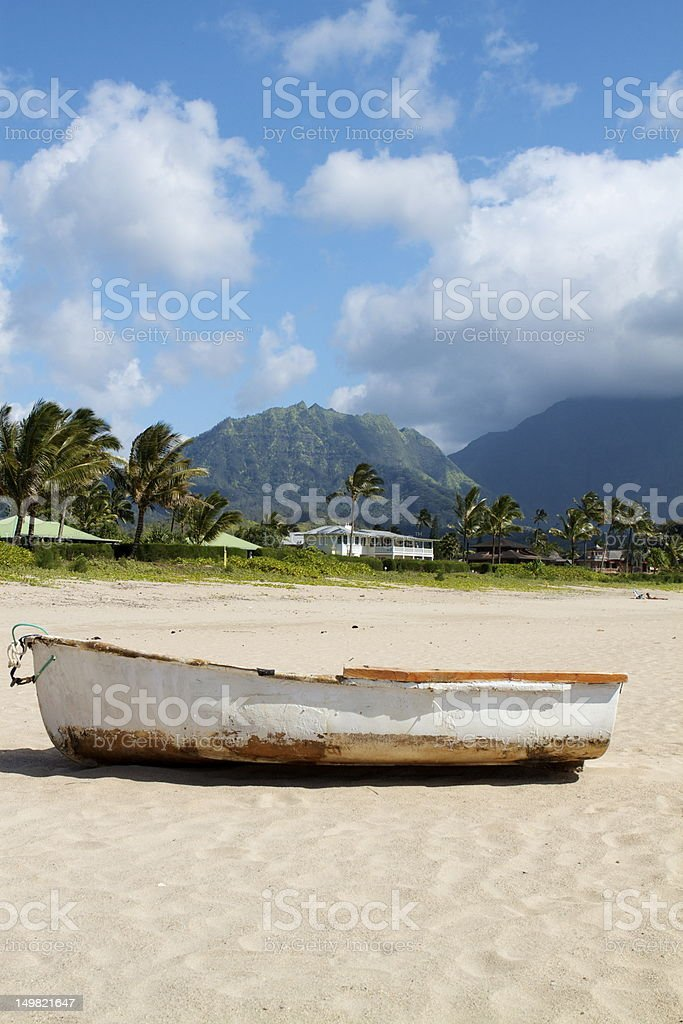 Shipwrecked in paradise royalty-free stock photo