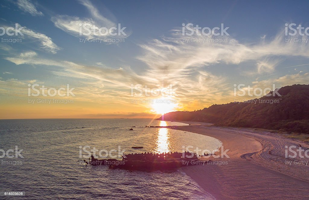 Shipwrecked stock photo