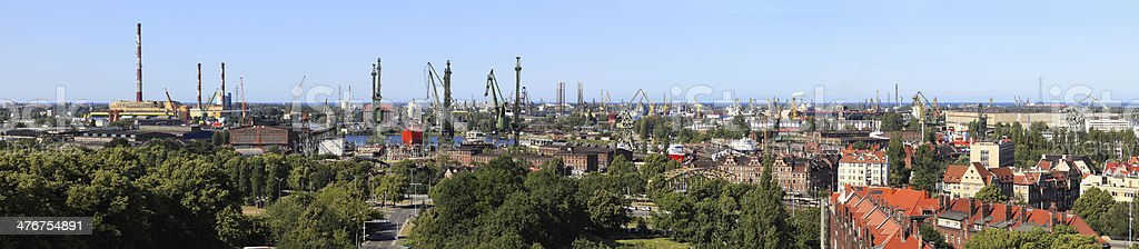 Shipyard and port in Gdansk, Poland royalty-free stock photo