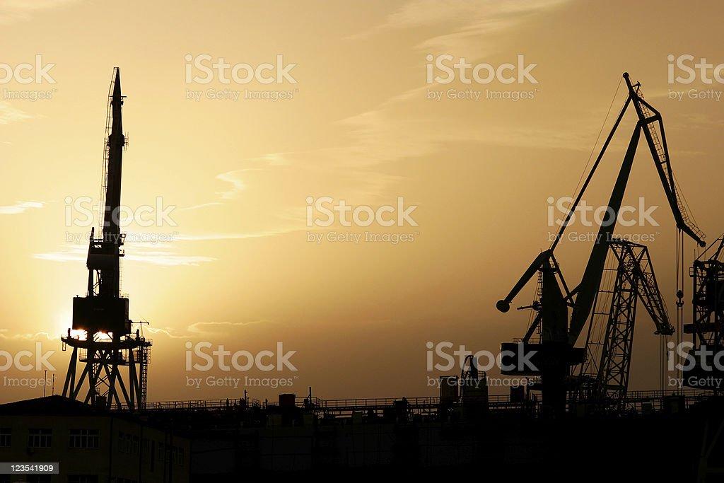 Shipyard in Pula - Croatia royalty-free stock photo