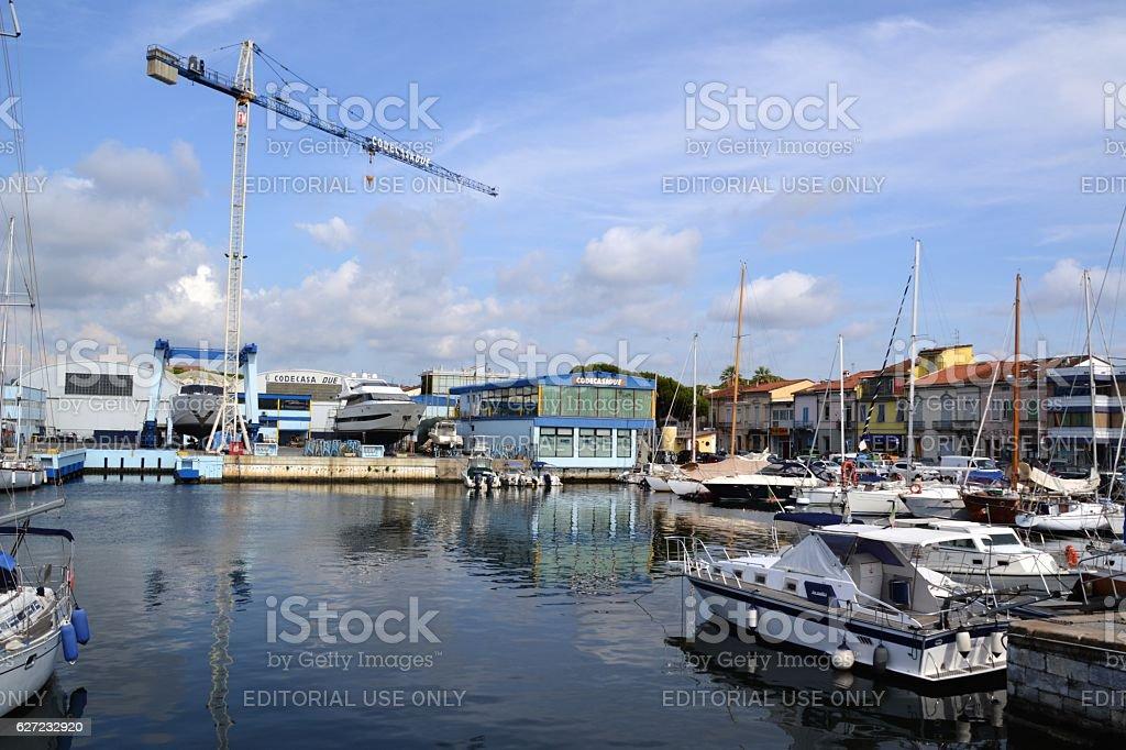 Shipyard in Viareggio, Tuscany, Italy stock photo