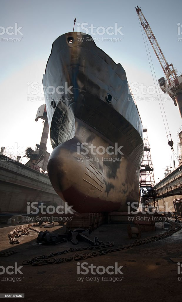 shipyard industry royalty-free stock photo