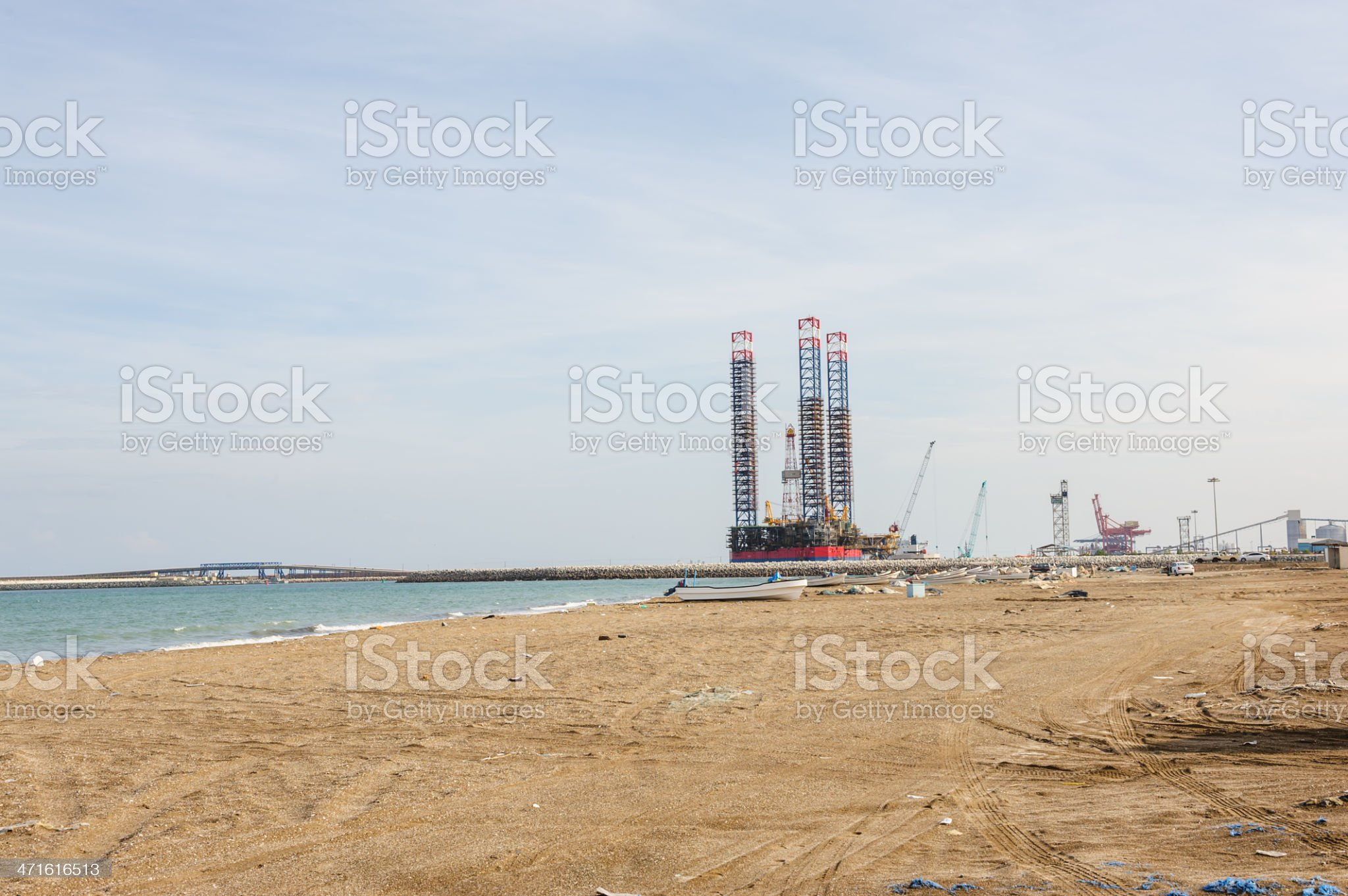 Shipyard near Liwa royalty-free stock photo