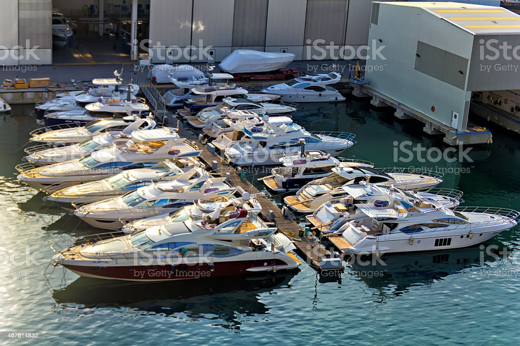 Shipyard of Savona stock photo