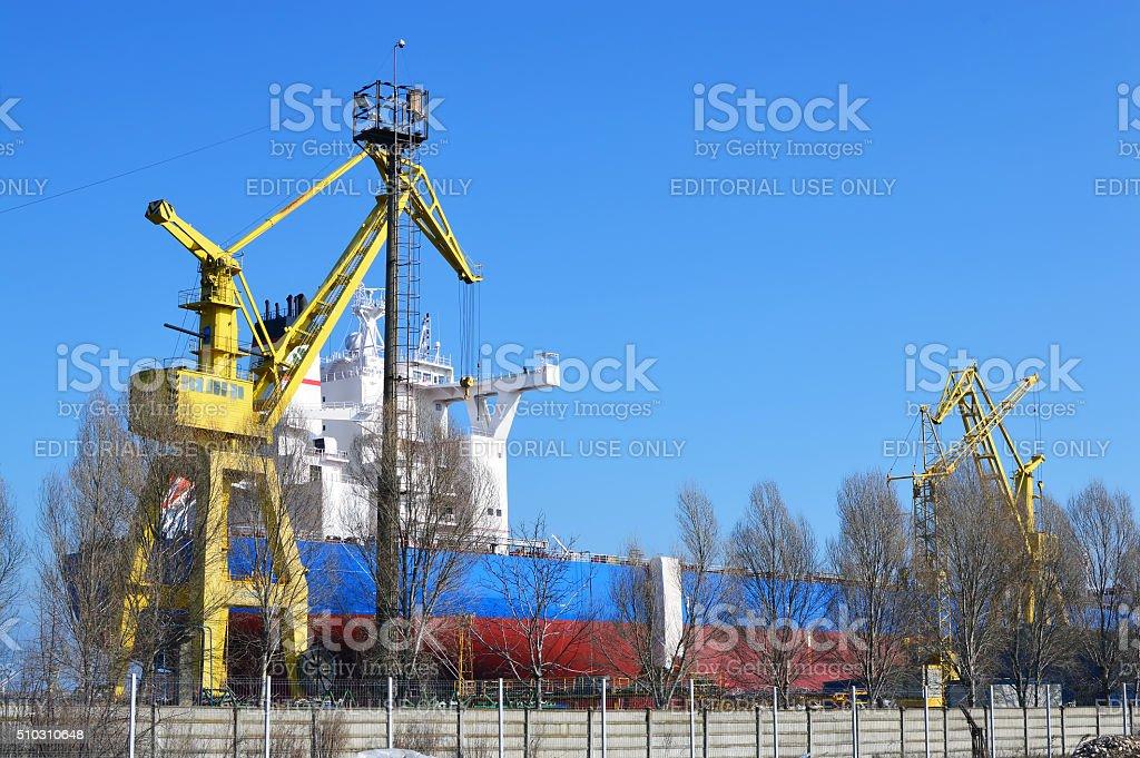 DMHI shipyard stock photo