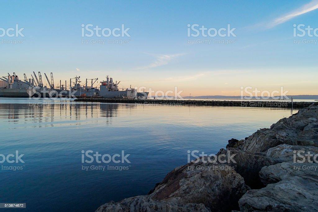 Shipyard stock photo