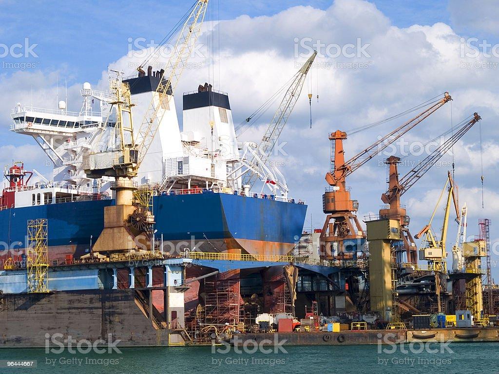 Shipyard royalty-free stock photo