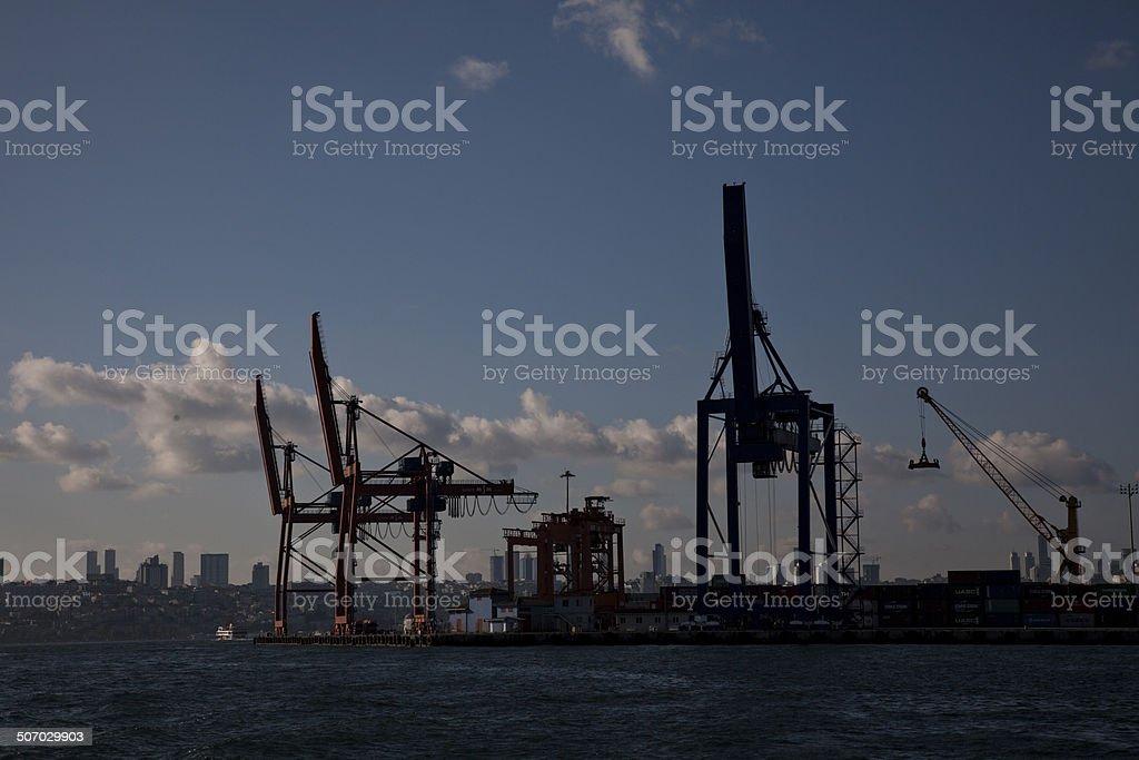 Shipyards and crane 2 - Stock Image stock photo