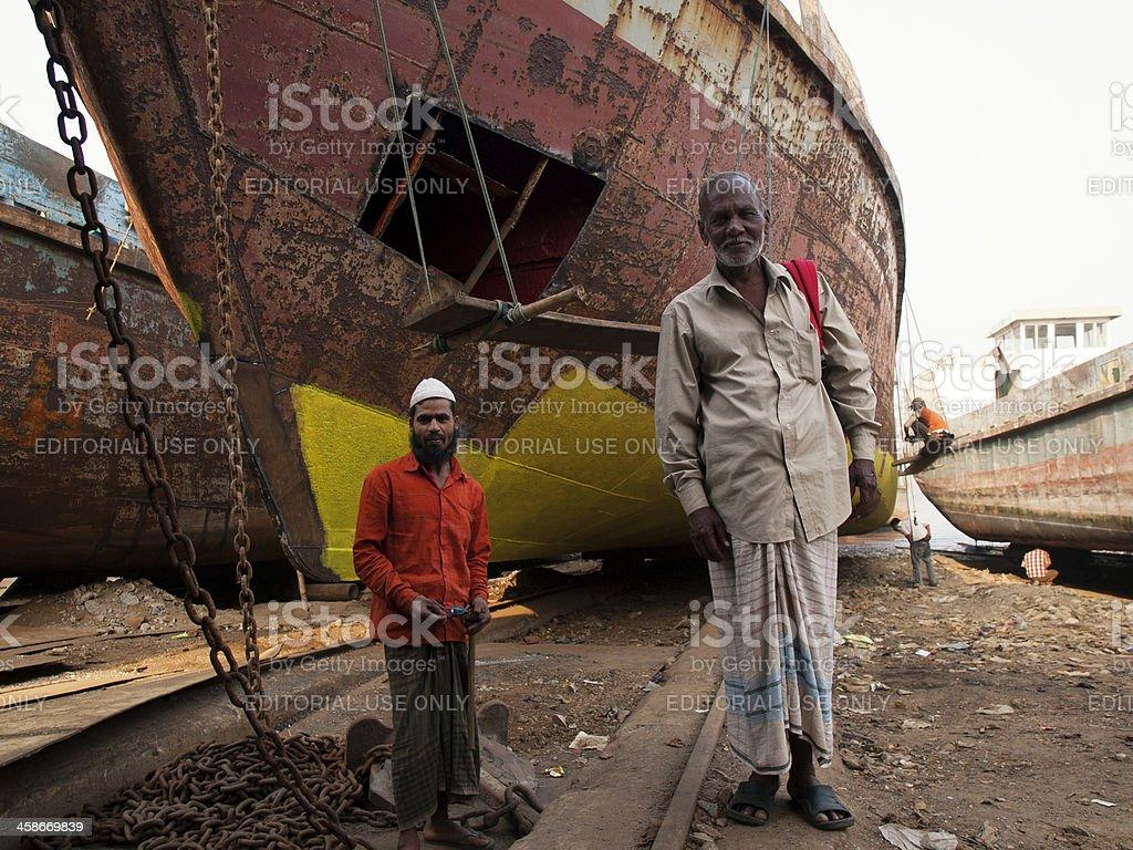 Shipyards in Bangladesh stock photo