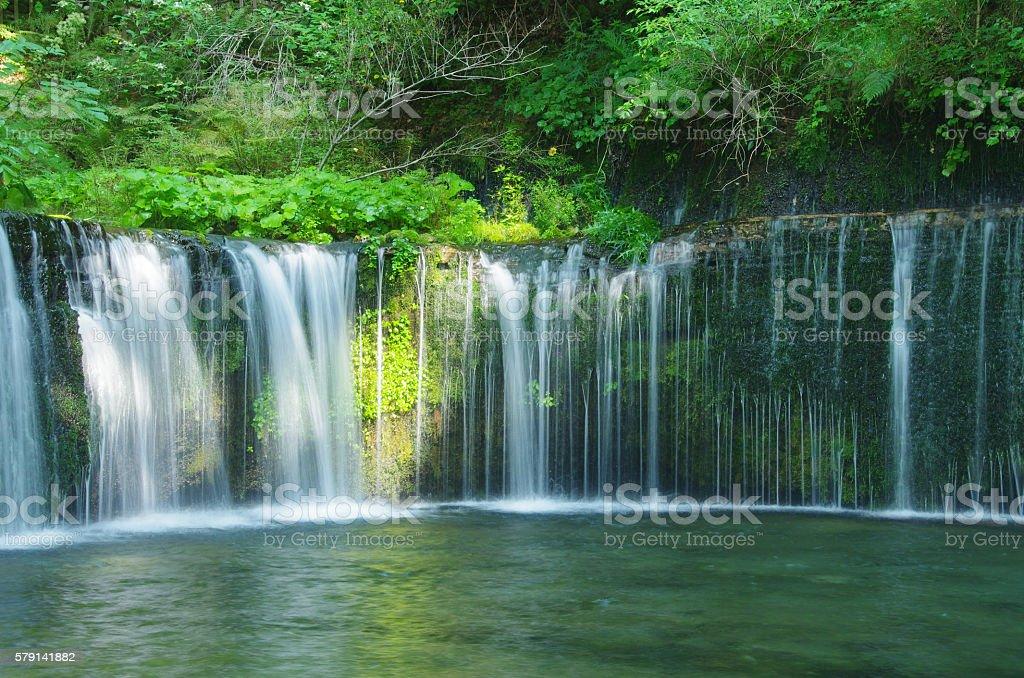 Shiraito Falls Karuizawa stock photo
