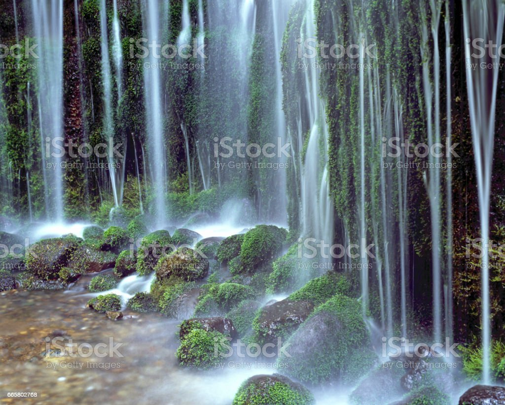 Shiraito falls stock photo