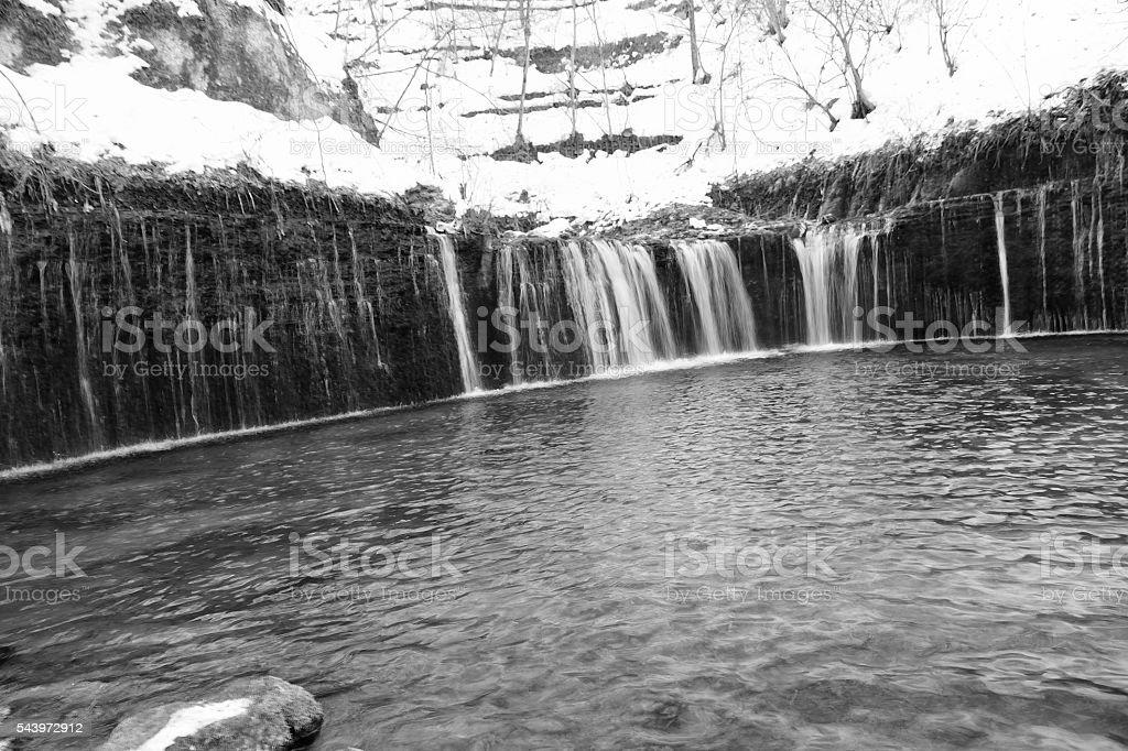 Shiraito Waterfall in Karuizawa, Japan stock photo