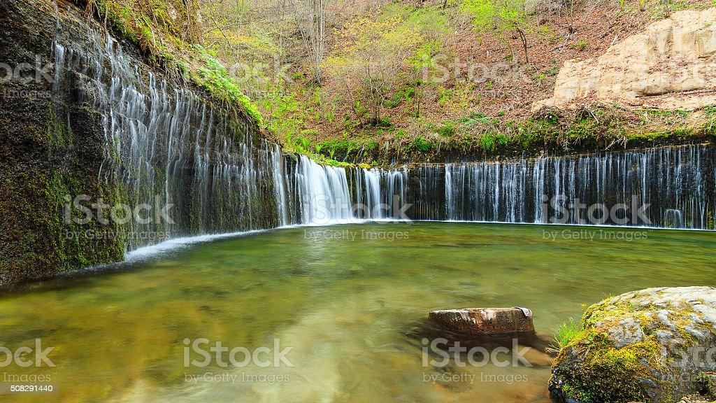 Shiraito Waterfall stock photo