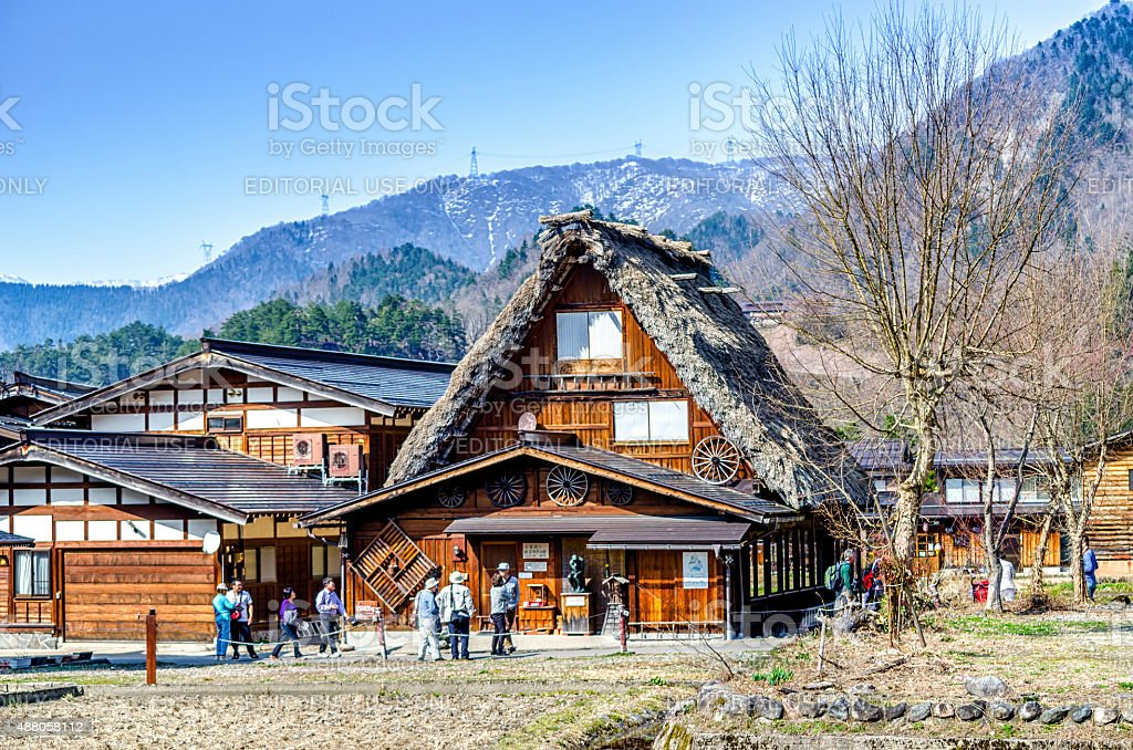 Shirakawa village - Gifu , Japan royalty-free stock photo