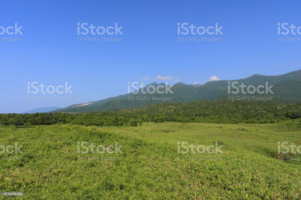 知床連山 stock photo