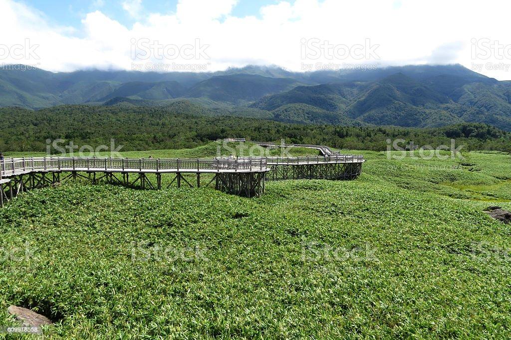 Shiretoko National Park World heritage conservation, Shiretoko Five Lakes stock photo