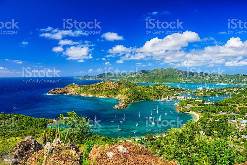 Shirley Heights Antigua stock photo