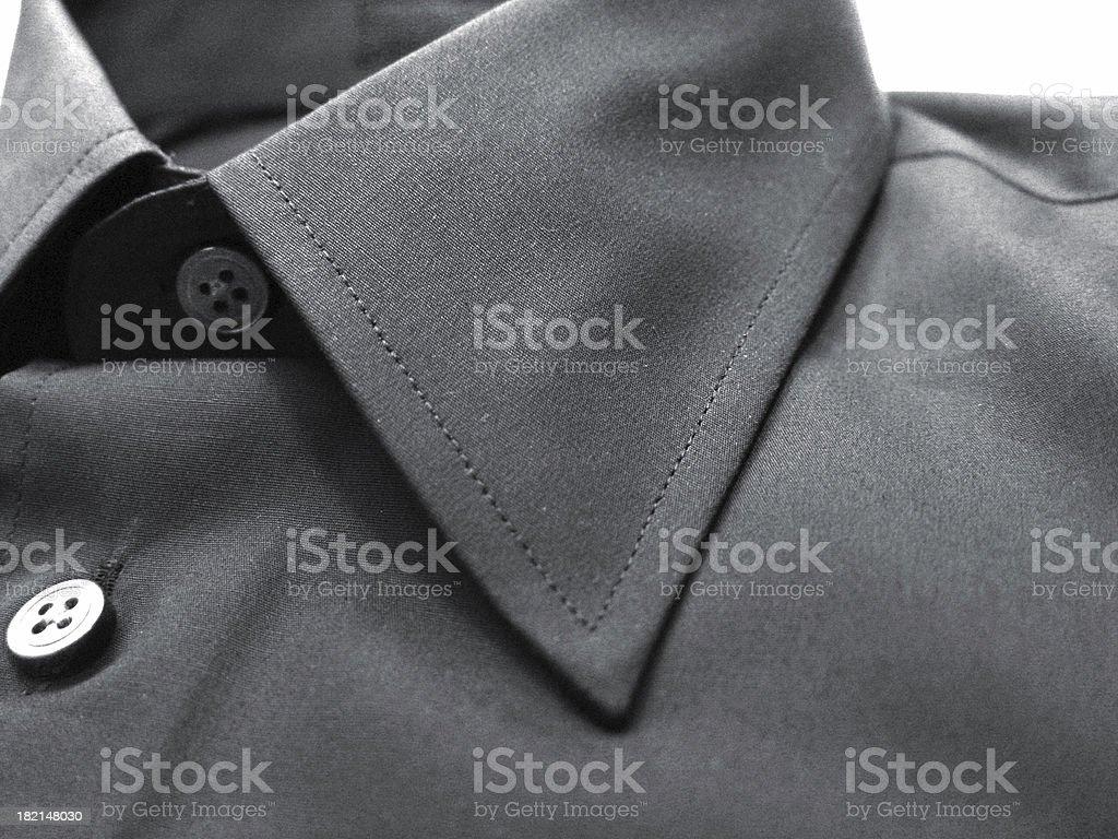 Shirt collar - tinted BW royalty-free stock photo