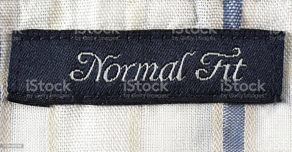 Shirt label royalty-free stock photo
