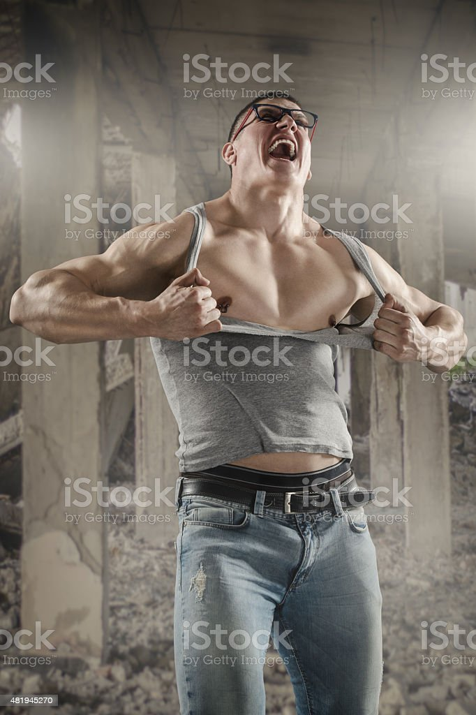 Shirt Off stock photo