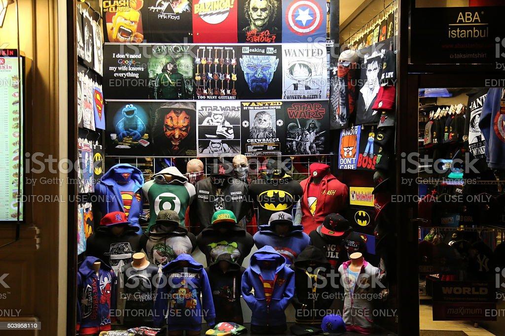 T shirt Shop stock photo