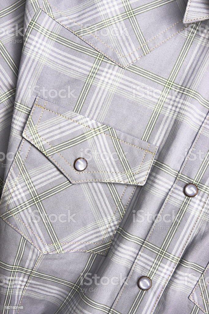 Shirt Western Style Plaid Clothing Fashion royalty-free stock photo