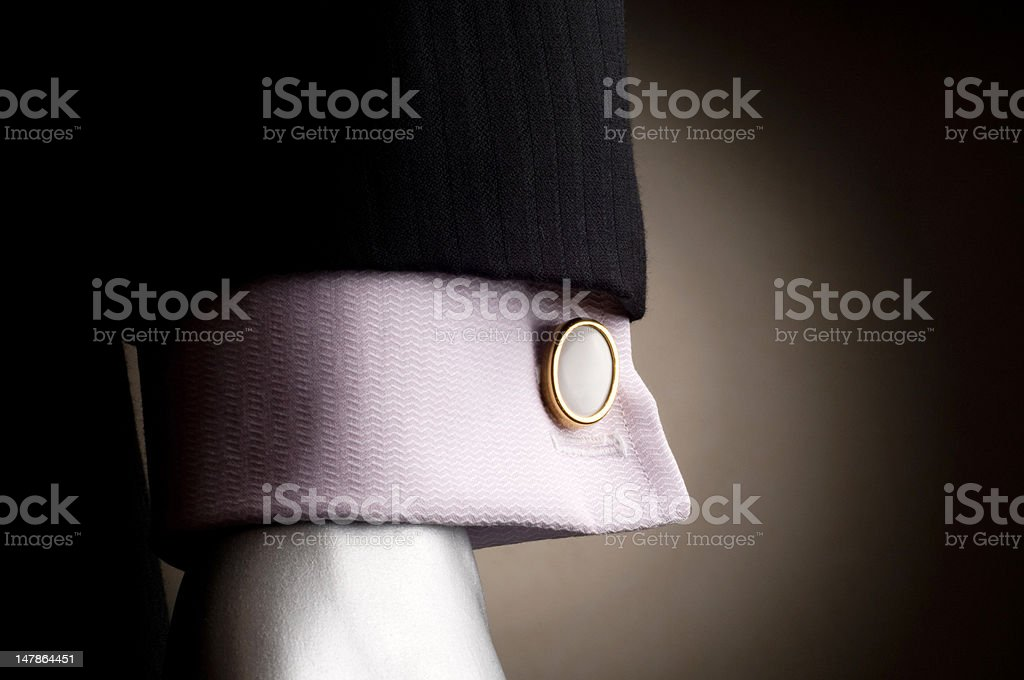 Shirt with cuff links stock photo