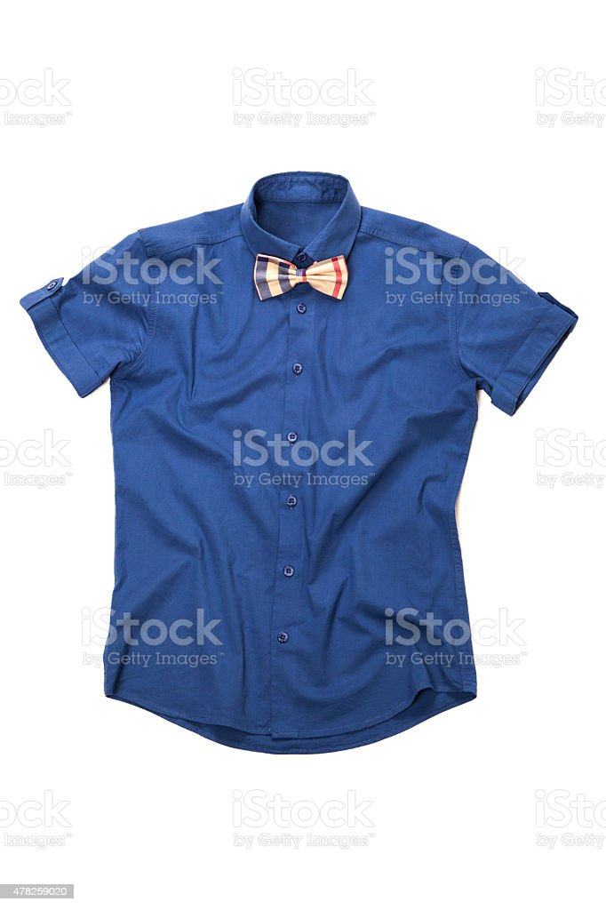 Shirt with tie stock photo